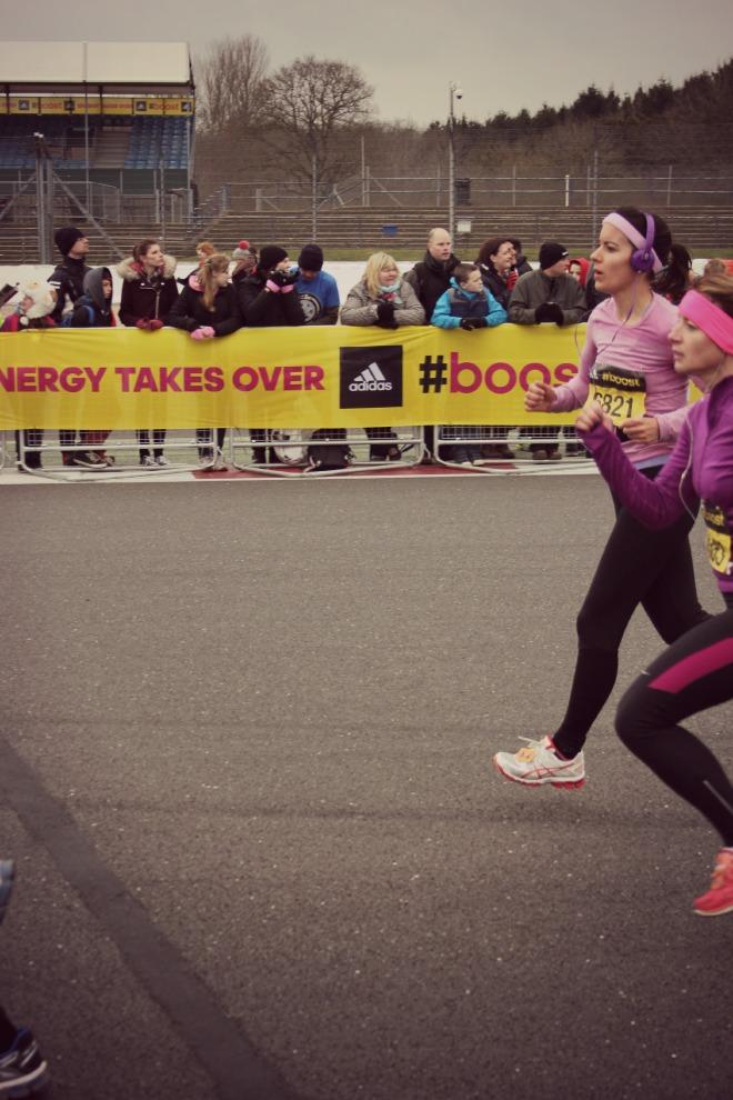 Finish line - Silverstone Half Marathon 2015
